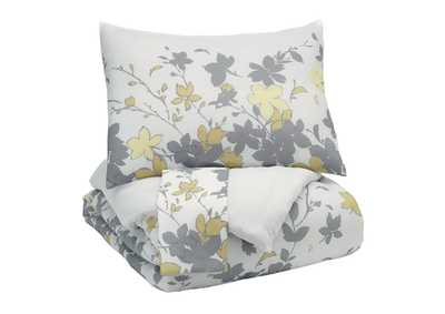 Image for Maureen Gray/Yellow Queen Comforter Set