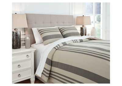 Schukei Gray 3-Piece Queen Comforter Set