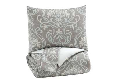 Noel Gray/Tan King Comforter Set,Signature Design By Ashley