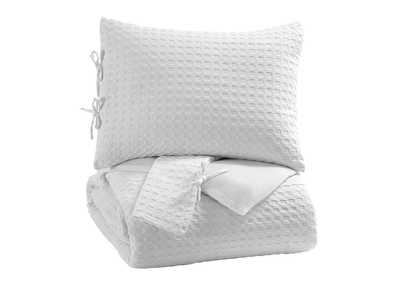Image for Maurilio White King Comforter Set
