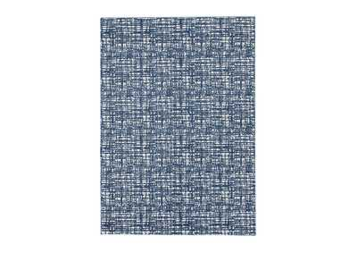 Image for Norris Blue/White Medium Rug