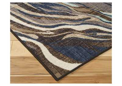Image for Jochebed Blue/Brown Medium Rug