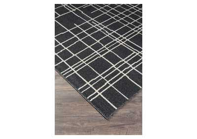 Jai Black/White Large Rug