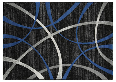 Jenue Black/Gray/Blue Medium Rug