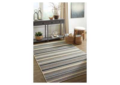 Troost Blue & Cream Large Rug,Signature Design By Ashley
