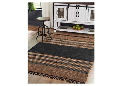 Zoran Black Medium Rug,Signature Design By Ashley