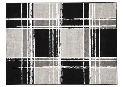 Ramy Medium Black/White Rug