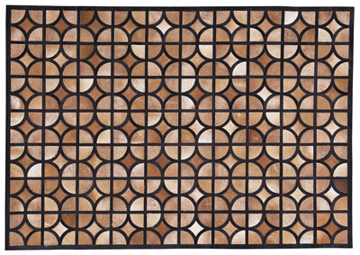 Jingjin Black/Brown Medium Rug