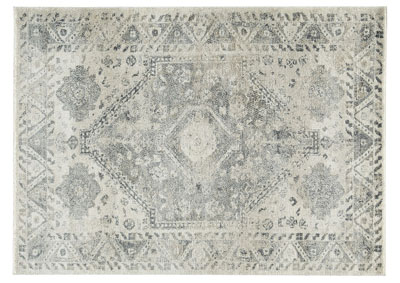 Precia Gray/Cream Large Rug