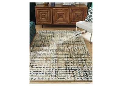 Mahina Tan/Blue/Cream Medium Rug