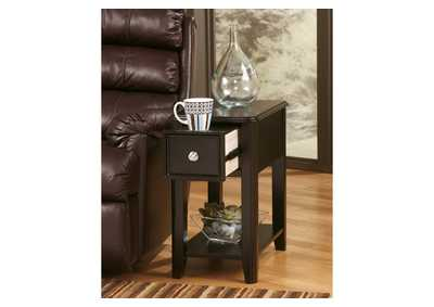 Almost Black Finish Chair Side End Table,Direct To Consumer Express