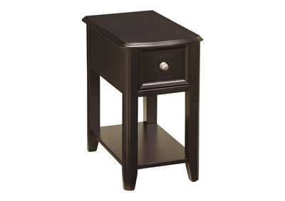 Image for Almost Black Finish Chair Side End Table