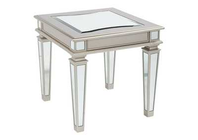 Image for Tessani Silver Rectangular End Table