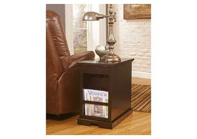 Sable Stain Finish Power Chairside End Table,Direct To Consumer Express