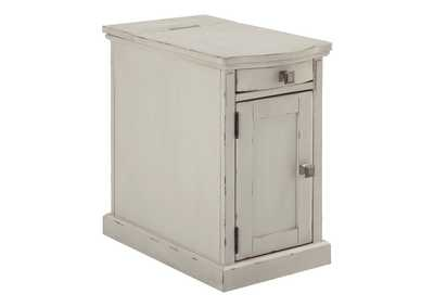 Laflorn White Chairside End Table