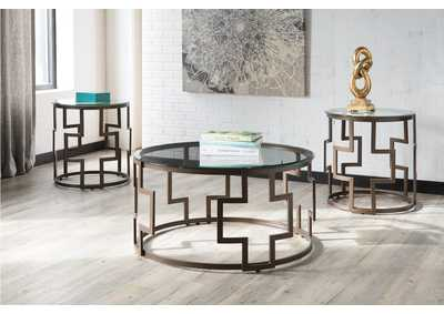 Frostine Dark Bronze Occasional Table Set,Direct To Consumer Express