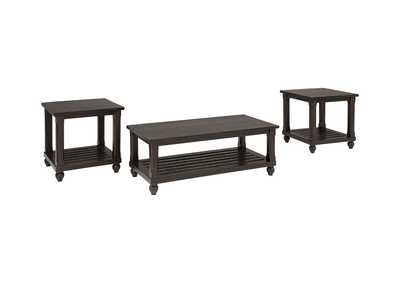 Image for Mallacar Black Occasional Table Set
