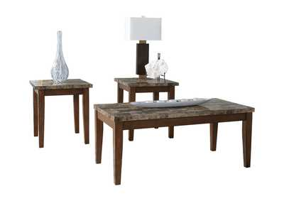Theo Occasional Table Set (Cocktail & 2 Ends)