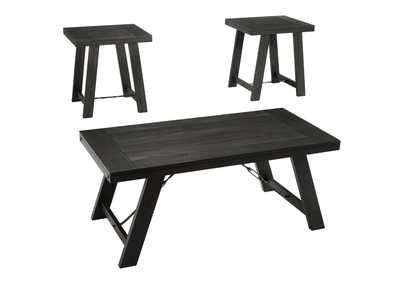 Noorbrook Black/Pewter 3 Piece Occasional Table Set
