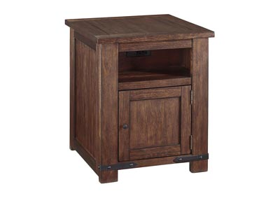Budmore Brown Rectangular End Table,Signature Design By Ashley
