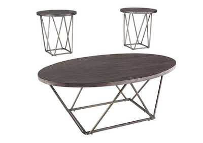 Neimhurst Dark Brown Occasional Table Set (Set of 3)