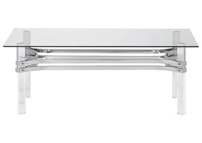 Image for Braddoni Chrome Rectangular Cocktail Table