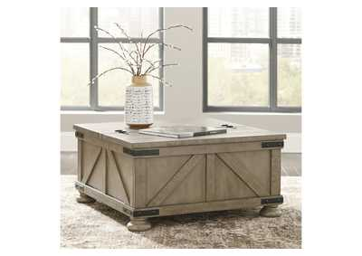 Aldwin Grey Cocktail Table w/Storage,Direct To Consumer Express