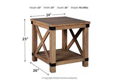 Aldwin Grey Rectangular End Table,Direct To Consumer Express