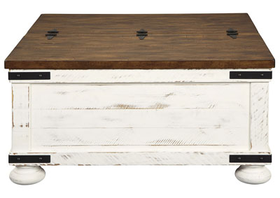 Wystfield White Cocktail Table w/Storage