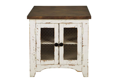 Wystfield White Rectangular End Table