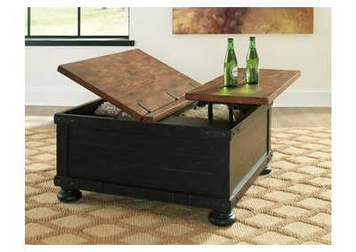 Valebeck Black Square Lift Top Cocktail Table,Signature Design By Ashley