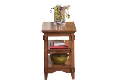 Cross Island Brown Chairside End Table