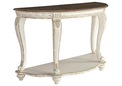 Realyn White/Brown Sofa Table,Signature Design By Ashley