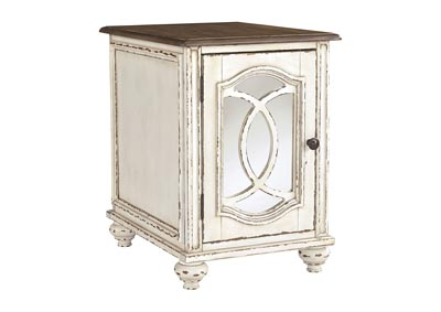 Realyn White/Brown Chairside End Table,Signature Design By Ashley