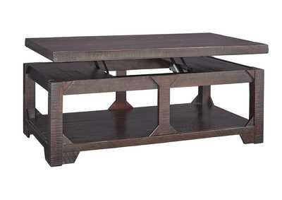 Rogness Rustic Brown Lift Top Cocktail Table