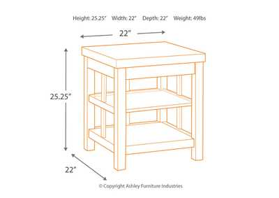 Gavelston Rubbed Black Square End Table,Signature Design By Ashley