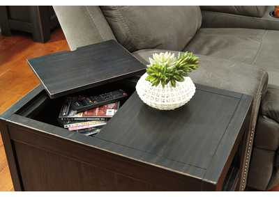 Gavelston Rubbed Black Chair Side End Table,Signature Design By Ashley