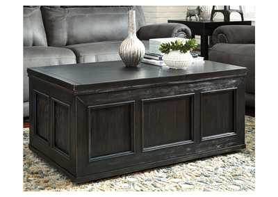 Gavelston Rubbed Black Lift Top Cocktail Table,Signature Design By Ashley
