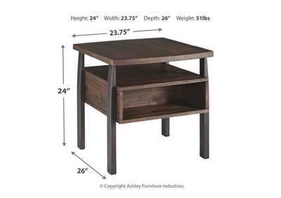 Vailbry Brown End Table,Signature Design By Ashley