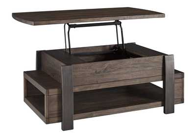 Vailbry Brown Lift-Top Cocktail Table
