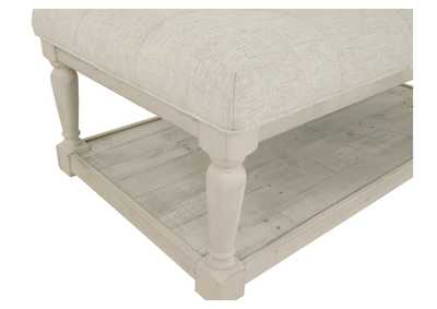 Shawnalore White Wash Ottoman Cocktail Table,Direct To Consumer Express