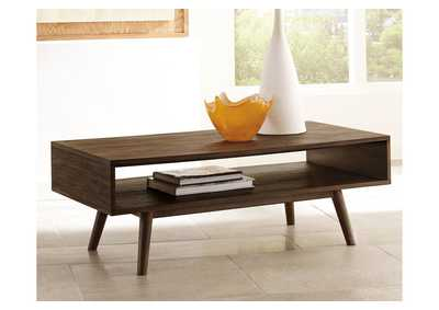 Kisper Dark Brown Rectangular Cocktail Table,Direct To Consumer Express