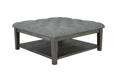 Borlofield Linen Ottoman Cocktail Table