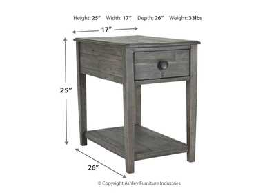 Borlofield Linen Dark Gray Rectangular End Table,Signature Design By Ashley