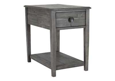 Borlofield Linen Dark Gray Rectangular End Table