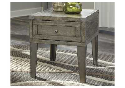 Chazney Rustic Brown End Table,Signature Design By Ashley
