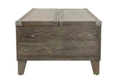 Chazney Rustic Brown Lift-Top Cocktail Table,Signature Design By Ashley