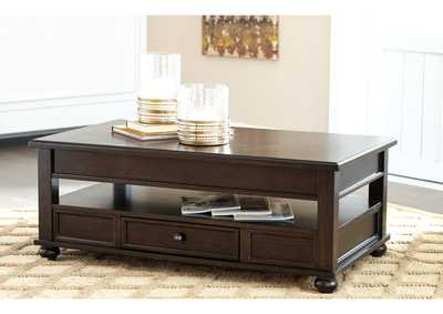 Barilanni Dark Brown Lift Top Cocktail Table,Direct To Consumer Express