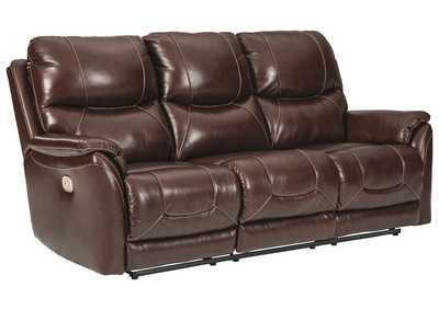 Image for Dellington Walnut Power Reclining Sofa