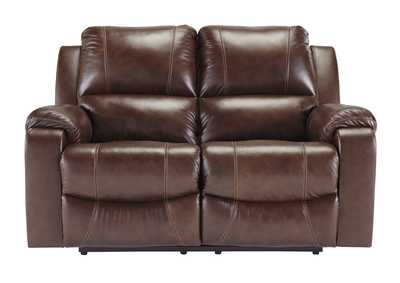 Rackingburg Mahogany Reclining Loveseat,Signature Design By Ashley
